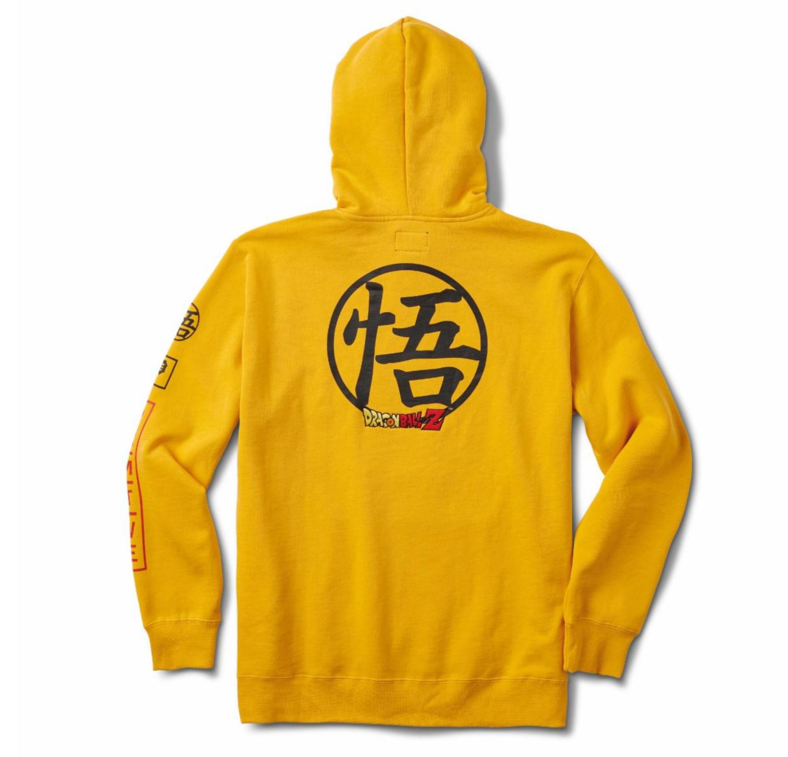 Primitive x Dragon Ball Z Dragonball Club Hood Gold Hoodie Größe XL