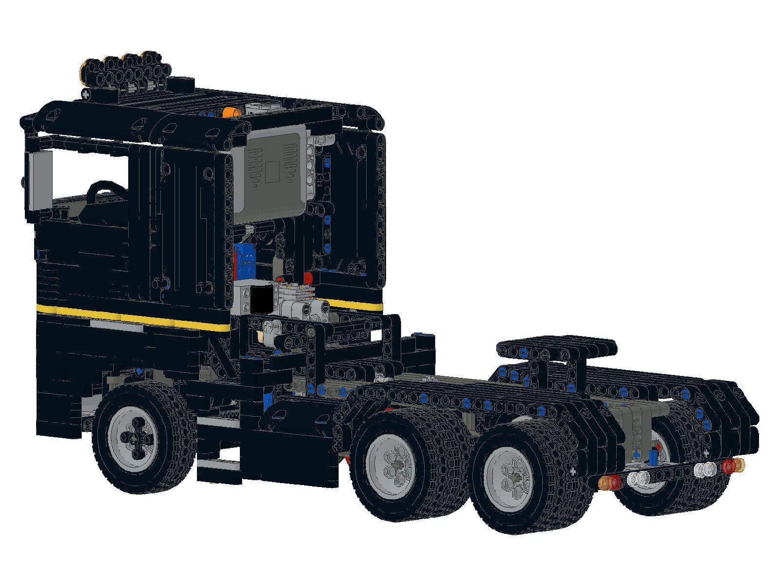Bau- & Konstruktionsspielzeug-Sets Bauanleitung instruction Truck Magnum 3A Eigenbau Unikat Moc aus Lego Technic ge