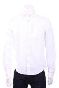 Camicia-Uomo-GANT-Colore-Bianco-con-logo-sul-taschino