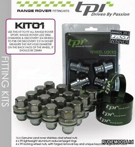 Discovery 2 fitting kit to fit alloy wheels from RR Vogue L322 06 on