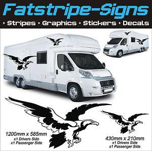 EAGLE GRAPHICS MOTORHOME VINYL STICKERS DECALS CAMPER CAR VAN - Graphics for caravanscaravan stickers ebay