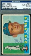 DON LARSEN AUTOGRAPH 1960 TOPPS PSA/DNA SIGNED AUTHENTIC