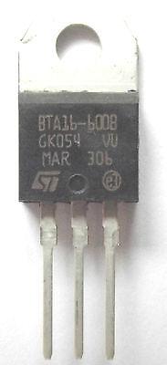 5 x BTA16-600B TRIAC 16A 600V BTA16600B STM TO-220 UK BTA16-800B REPLACEMENT