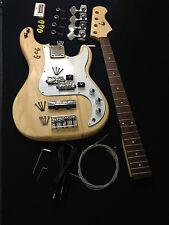 EB-303DIY Electric Bass Guitar DIY Kits w/Bonus Picks, Digital Tuner