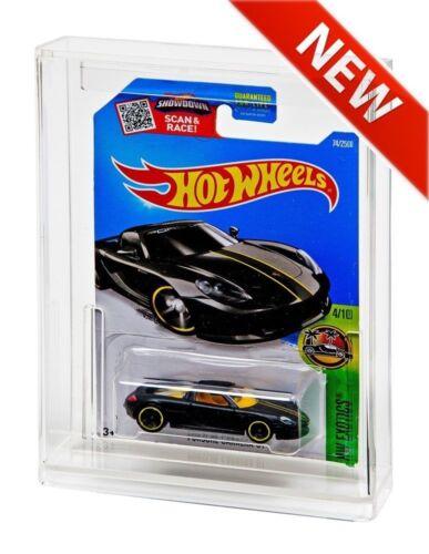ADC-013 HOT WHEELS Carded MOC Tall Card 2 x GW Acrylic Display Cases