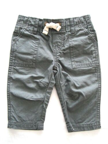 Carter/'s Infant//Toddler Baby Boys Gray Cotton Cargo Long Pants MSRP $26