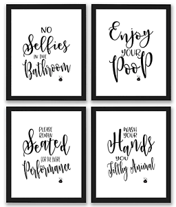 pk bathroom quotes art prints wall decor funny pictures for home