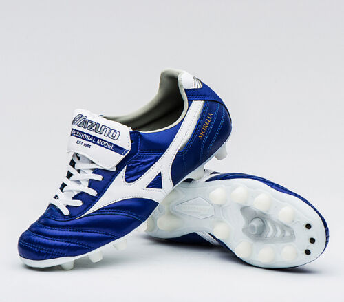 Mizuno Morelia II MD P1GA160422 Soccer Football Cleats Shoes Boots Blue Cleat