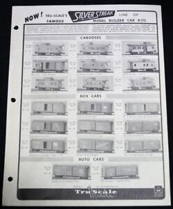 tru scales model railroad train equipment sales flyer price list