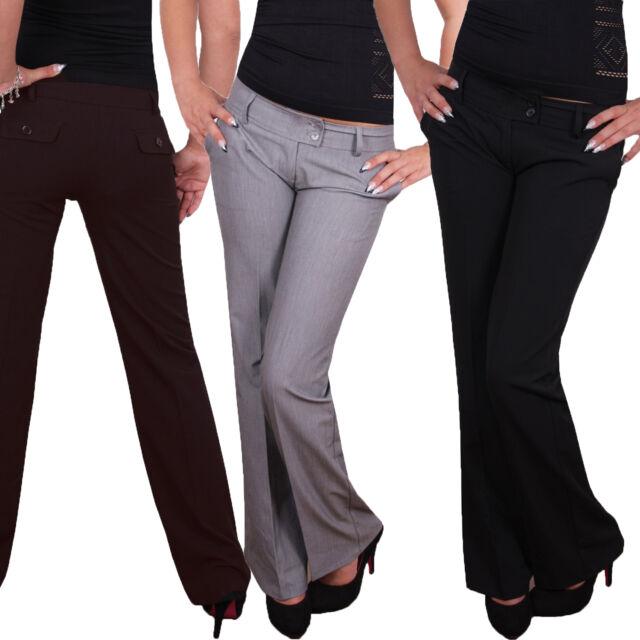 Elegante Damen Businesshose Stoffhose Hose mit geradem Bein sehr schick S4