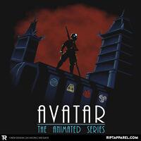 Avatar Last Airbender Aang Air Water Fire Earth Bender Limited Mens T-shirt M-2x