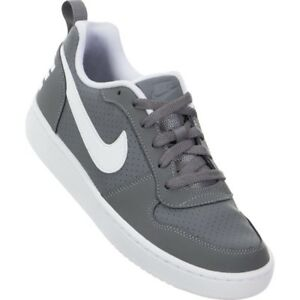 NIKE COURT BOROUGH LOW GS COL GRIGIO BIANCO UNISEX JR 839985 002