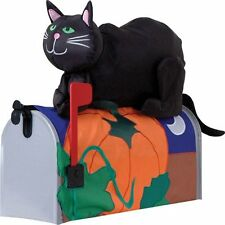 Inflatable Halloween Black Cat Pumpkin Moon Mailbox Cover