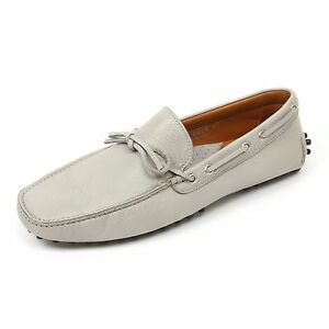 Man Grigio Club Loafer Scarpa Shoe Uomo Portofino Mocassino C3836 qwf876R6