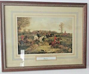 H-ALKEN-BREAKING-COVER-FRAMED-PRINT-HORSES-HOUNDS-HUNT-1810-1894-ENGLAND