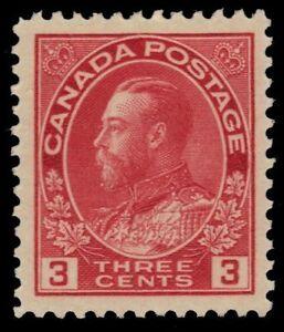 "CANADA 109d - King George V ""Admiral"" Rose Car. Die I 1923 Print (pf87165) $40"