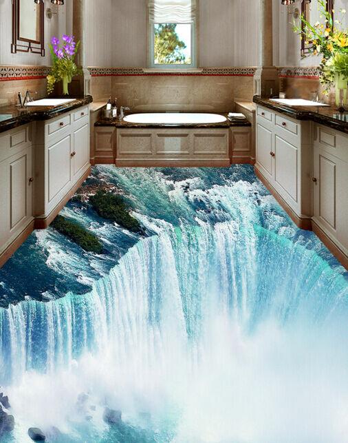 3D Bella Cascata 331 Pavimento Foto Wallpaper Murales Muro Stampa Decalcomania