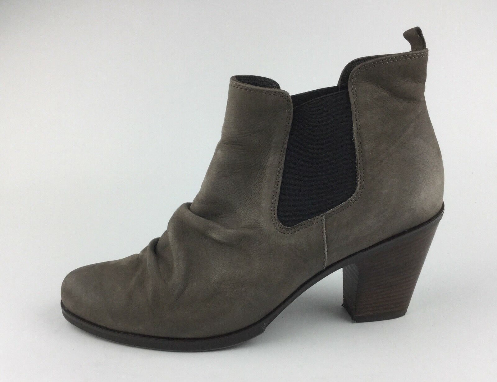 Paul Green Womens Taupe Leather Ankle Boots Heels Sz US 7.5