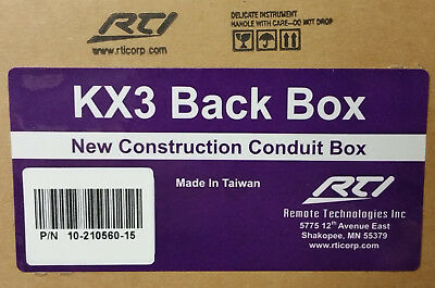 1 New Rti Kx3 In Wall Touchpanel New Construction Conduit
