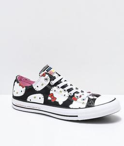 a0ade606776b NEW! Converse x Hello Kitty Chuck Taylor Black   White Shoes Mens ...
