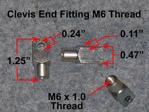 Zinc-Gas-Strut-Tanning-Bed-Clevis-Split-Fork-End-Fitting-Rod-Mount-Point-New