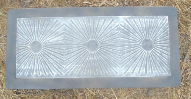 3/16th plastic sunburst bench top concrete mold see more bench molds too