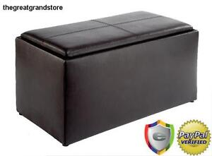 Image Is Loading Coffee Table Amp Ottoman Set Leather Storage Furniture