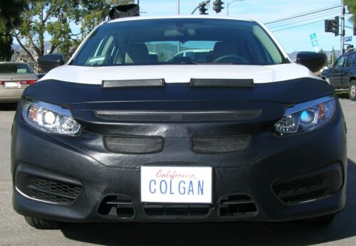 Colgan Front End Mask Bra 2pc.Fits Honda Civic 4DR EX,EX-L,EX-T 16-17 w//oTag