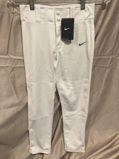 882736d01e2e NEW Nike Dri-Fit 615283 White Straight Leg Baseball Softball Pants Boys NWT