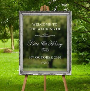 Custom-Wedding-Welcome-Sticker-Mirror-Frame-Graphic-Sign-Decor-Vinyl-Decal