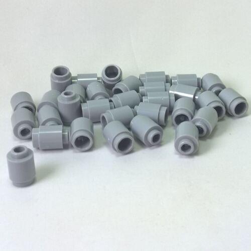 30 NEW LEGO Brick Round 1 x 1 Open Stud Light Bluish Gray