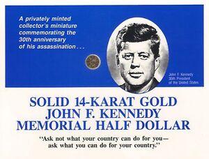 Solid-14-Karat-Gold-John-F-Kennedy-Memorial-Half-Dollar-in-Folder