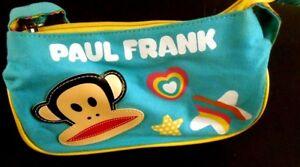 Paul-Frank-JULIUS-the-Monkey-Youth-Girls-Strap-Purse-Teal-Blue-Green-Heart-Stars
