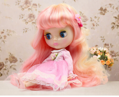 """12/"""" Neo Blythe Doll Transparent skin from Factory Joint Body Nude Doll JSW93008"""