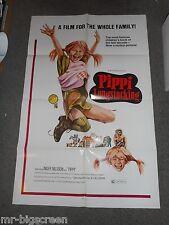 PIPPI LONGSTOCKING - ORIGINAL FOLDED POSTER - 1973 - INGER NILSSON