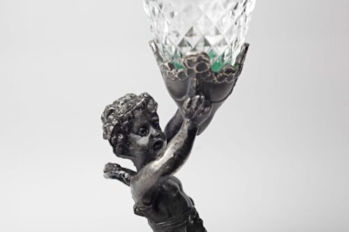 Metall Figur FABRICATION FRANÇAISE PARIS made in france 26 cm Glas Trinkglas a