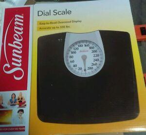 Sunbeam Oversized Display Bathroom Dial Analog Scale Inv 1 9