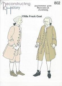 Schnittmuster-RH-802-Paper-Pattern-1760s-Frock-Coat