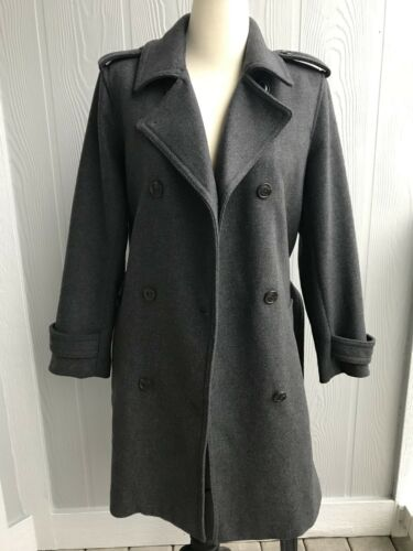 Winter Blend Heather Women's Gap Ull Sz P Trenchcoatcoat c143 Trækul L tPdqPwHE