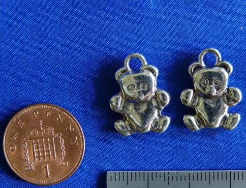 TEDDY CUDDLY TOY CUTE CH039 10 x Tibetan LARGE BEAR charms