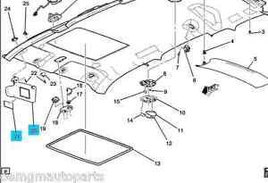 New-OEM-2007-2009-Chevrolet-HHR-Left-Driver-Sun-Visor-Shade-GREY-25788231