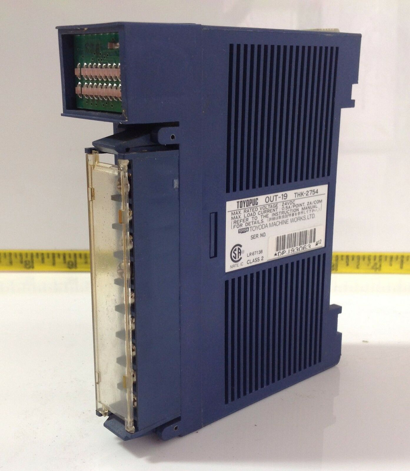TOYOPUC OUTPUT MODULE OUT-19 24VDC 0.5A THK-2754