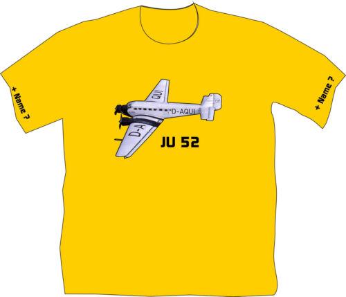 Fliegershirt Flieger T-Shirt Flugsport Tante JU 52 Nostalgie Flugschau 13