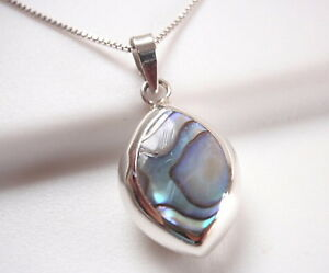 Reversible-Abalone-and-Mother-of-Pearl-925-Sterling-Silver-Marquise-Necklace