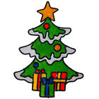 Christmas Window Glass Decal Sticker Removable Reusable Xmas Tree D1