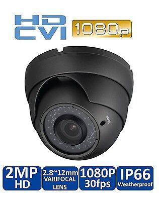HD CVI 1080P Dome Camera 2MP HDCVI Sony CMOS Varifocal 2.8-12mm 36 IR GRAY