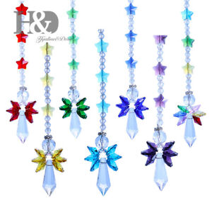 Crystal-Suncatcher-Rainbow-Guardian-Angel-Pendant-Handmade-Haning-Ornament-Gift