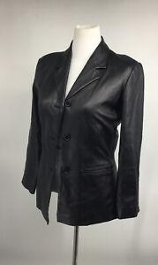 Preston-amp-York-Women-039-s-Soft-Black-Lamb-Skin-Jacket-Coat-Size-Small