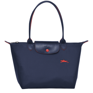 Details about France Made Longchamp Le Pliage Club Collection Small Tote  Navy Blue S