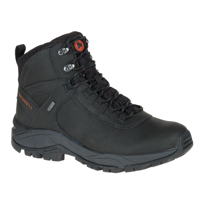 Zapatos de Cuero Merrell Vego Mediados Hombre-Negro J311538C Impermeable